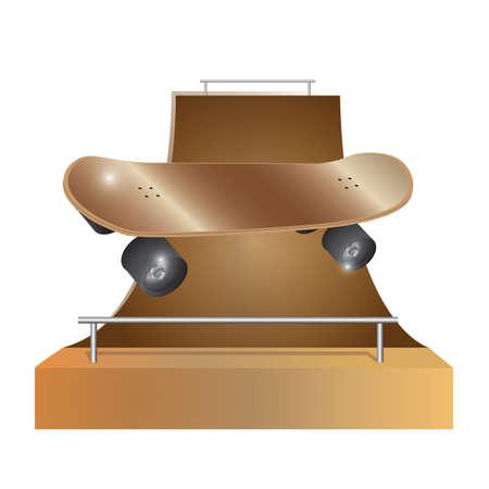 Une illustration de piste de planche à roulettes. Banque d'images - 81470599