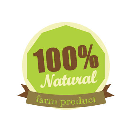 natural farm product label