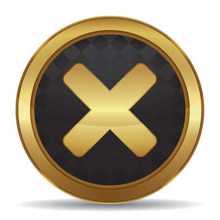 Una ilustración de botón de cancelar. Foto de archivo - 81485775