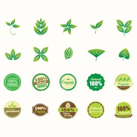 nature labels collection Ilustração