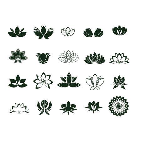 collection of yoga symbols