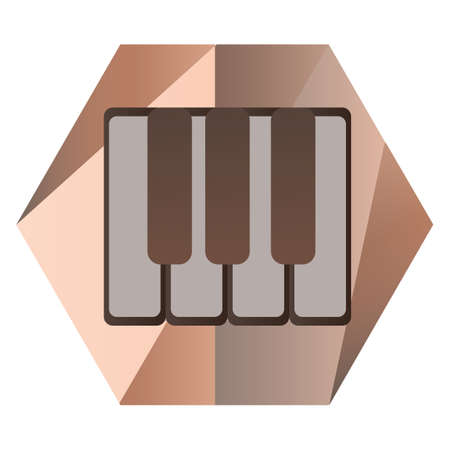 piano keys for music Stock Illustratie