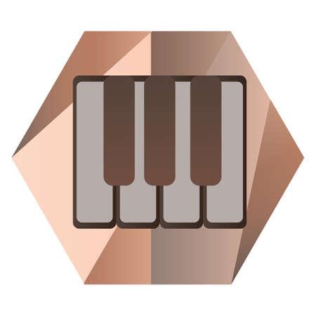 piano keys for music Illustration
