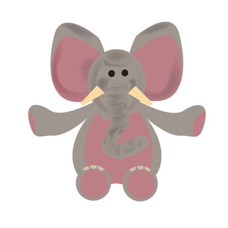 코끼리 부드러운 장난감 일러스트