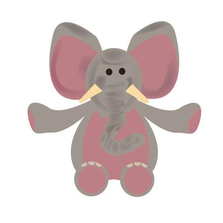 Elefant Stofftier Standard-Bild - 81537271