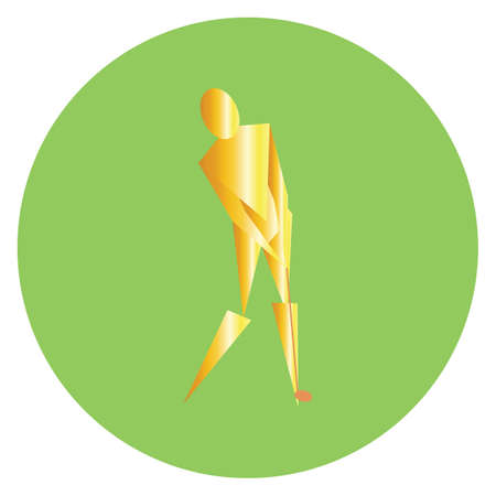 golfer striking with golf club