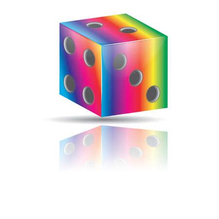 colorful dice Иллюстрация