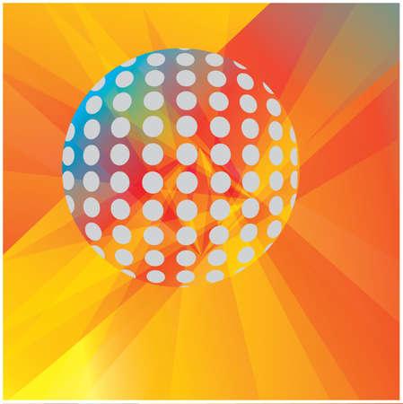 disco ball background Stock Vector - 81537274