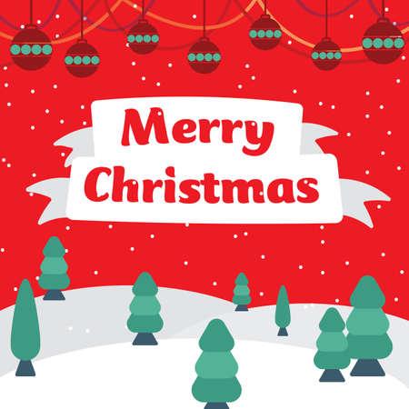 クリスマスの挨拶  イラスト・ベクター素材