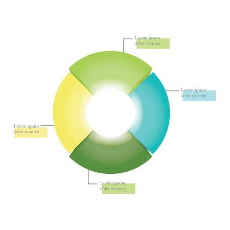 cirkeldiagram Stock Illustratie