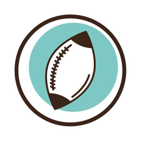 American football ball illustration. Illusztráció