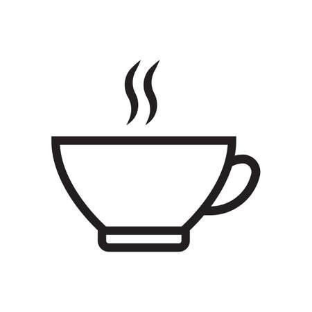 a cup of hot beverage Ilustração