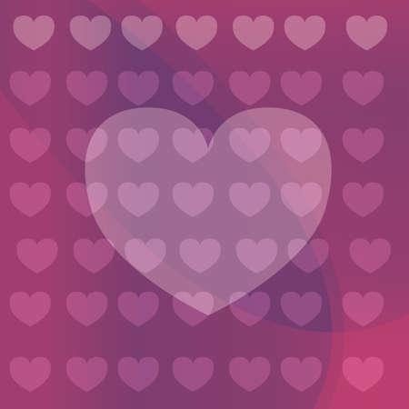 heart shaped background Ilustração