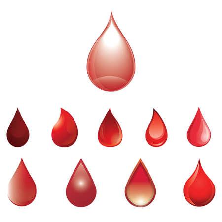 bloeddruppels collectie Stock Illustratie