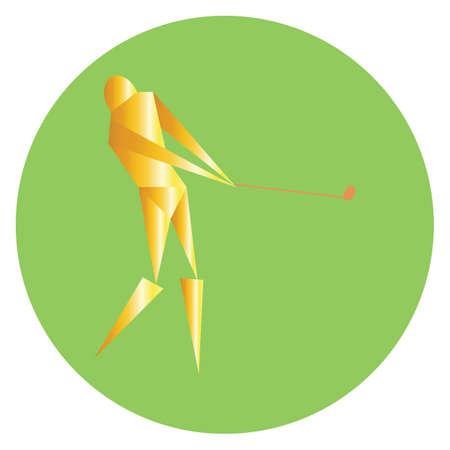 golfista, golpear, con, palo de golf