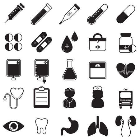 doctor icons Illustration