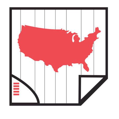 united states of america map Foto de archivo - 106671036