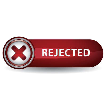 A rejected button illustration.