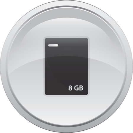 external hard drive Иллюстрация