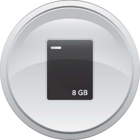 external hard drive Ilustracja