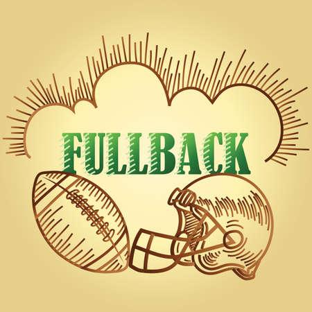 football fullback position text
