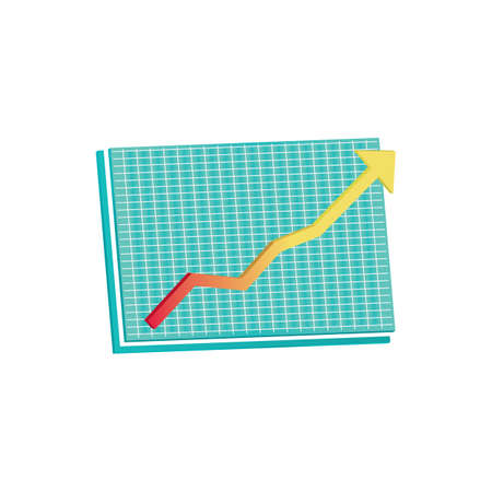 groei voortgangsgrafiek Stock Illustratie