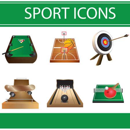 sport pictogrammen Stock Illustratie