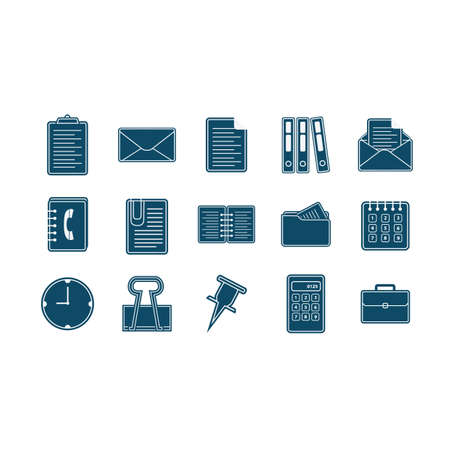 set of office icons 向量圖像