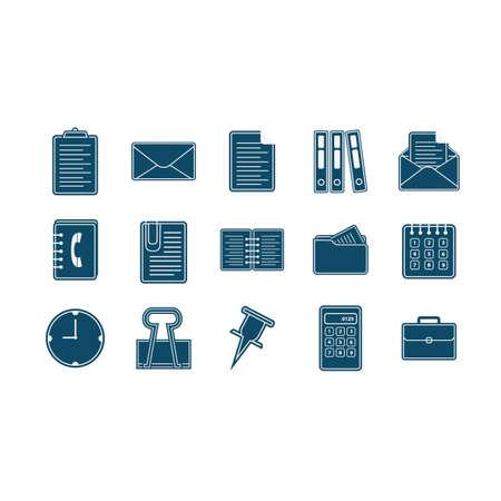 set of office icons Zdjęcie Seryjne - 106671044