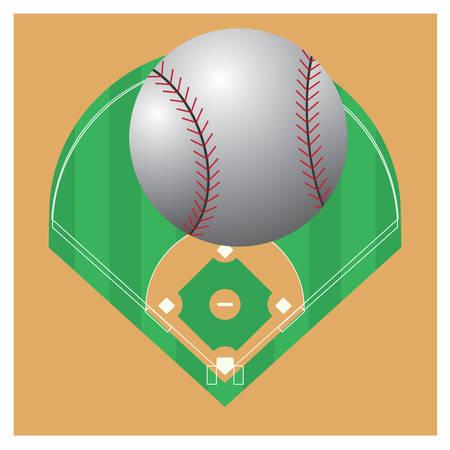 야구 필드에 야구입니다. 스톡 콘텐츠 - 81470636