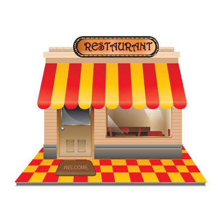 restaurant Stock Illustratie