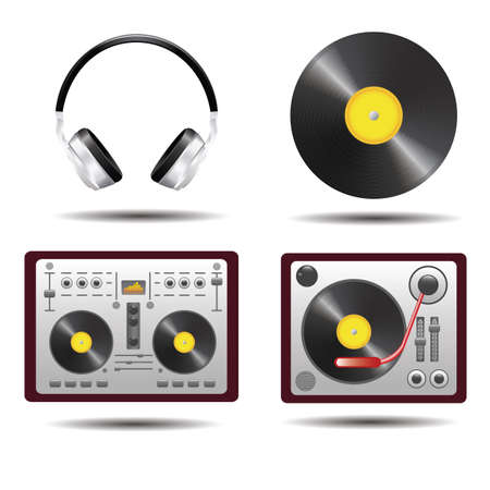 Collection of music icons Illustration