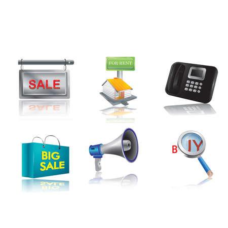 marketing icons Illustration