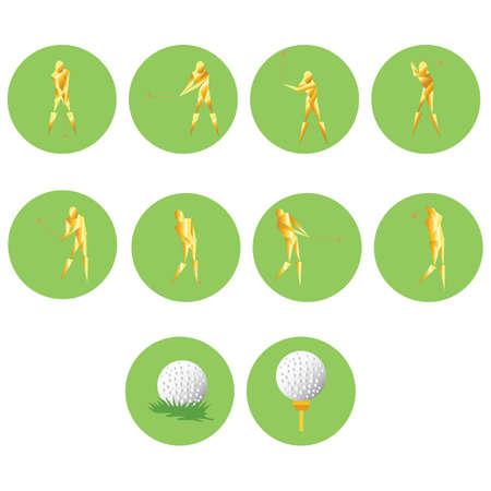 colección abstracta de jugadores de golf