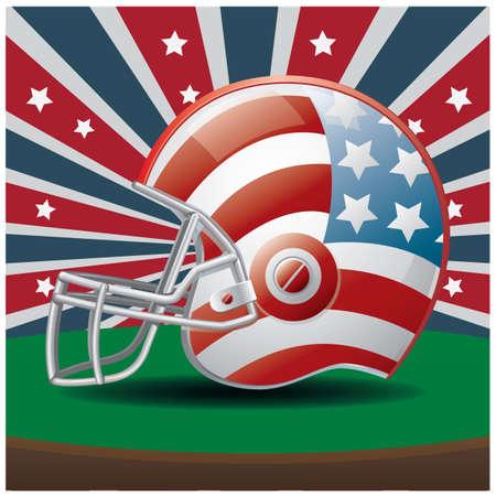 american football helmet Stock Illustratie