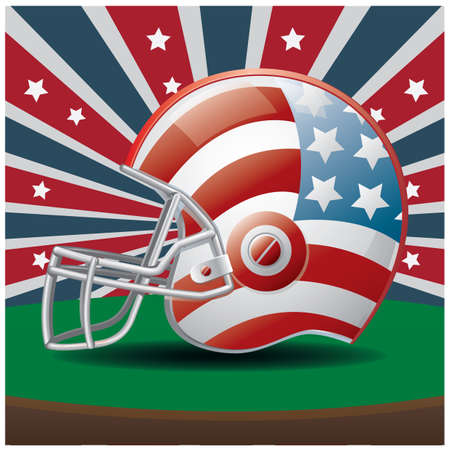 american football helmet Иллюстрация