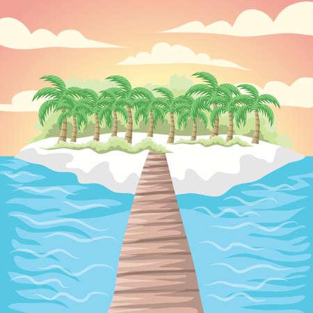island background Illusztráció