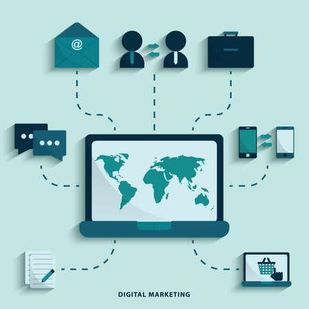 digital marketing Stock fotó - 81537976