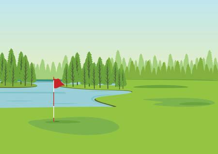 Golfplatz Vektorgrafik
