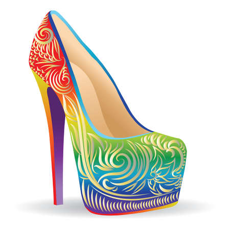 colorful elegant heels Çizim