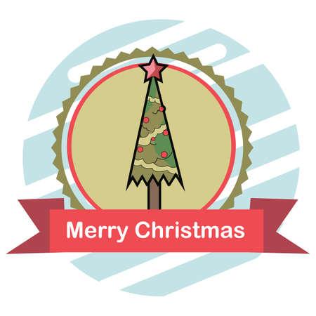 クリスマス ツリー  イラスト・ベクター素材