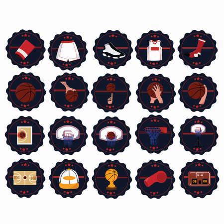 verzameling van basketbal pictogrammen