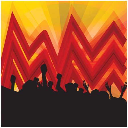 Publiek genietend van muziek Stockfoto - 81486708