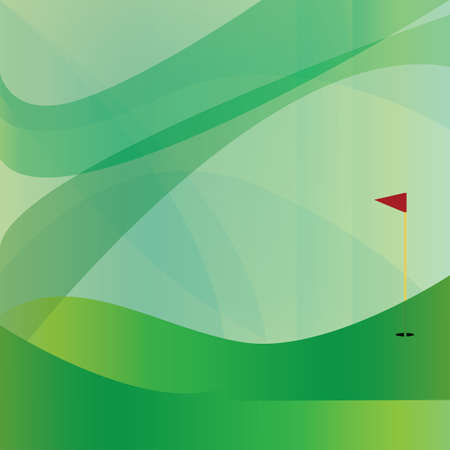 golf flag stick on abstract background