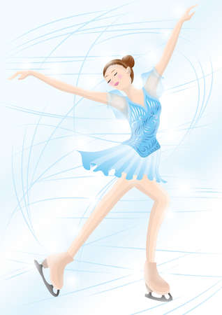 ice skater in action Illustration