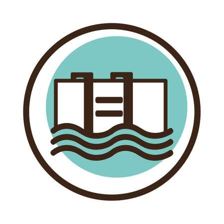 zwembad Stock Illustratie