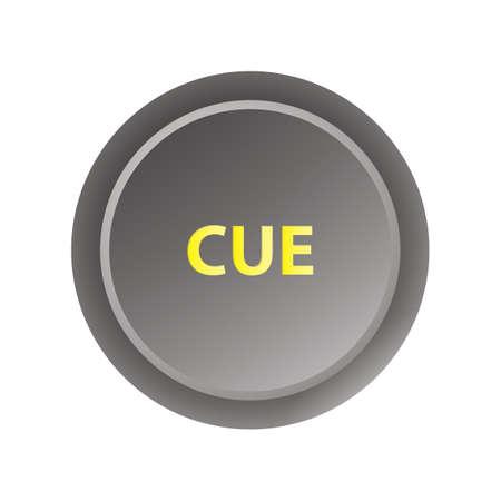 Cue button Illustration