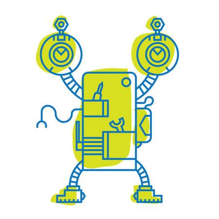 ロボットのイラスト。  イラスト・ベクター素材