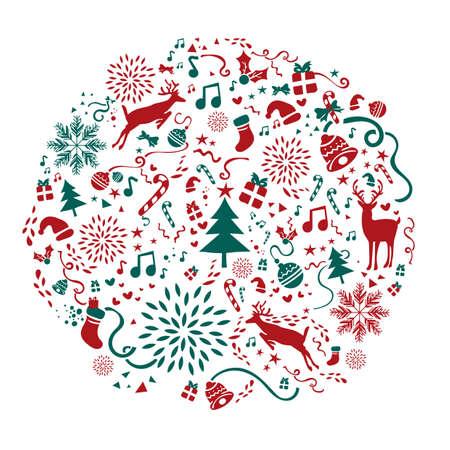 크리스마스 아이콘 일러스트