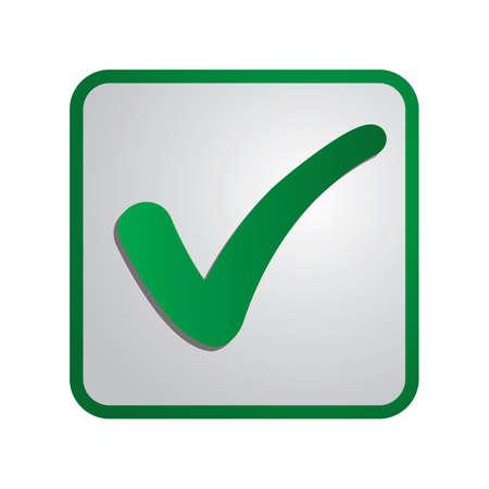 A check button illustration. Illustration